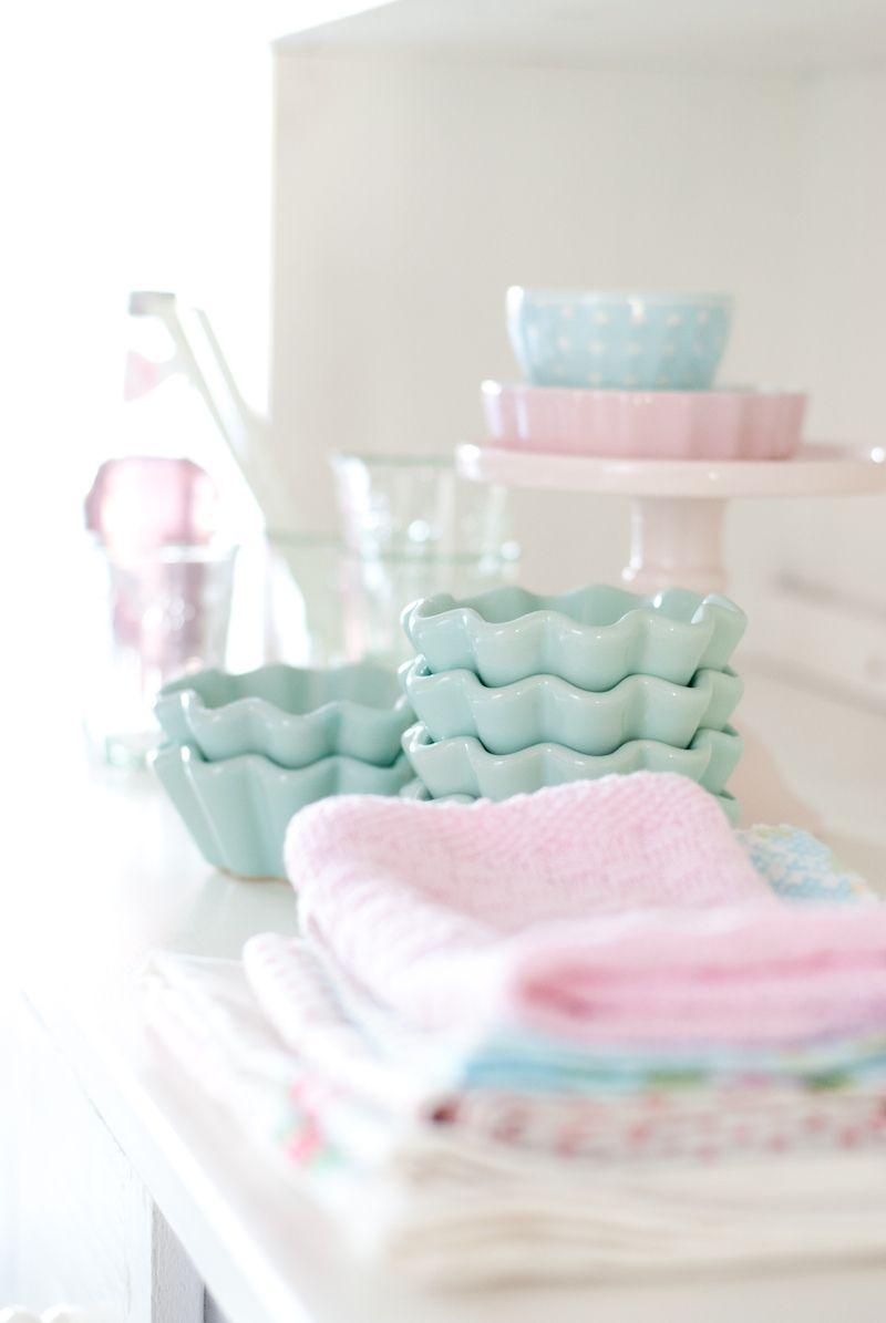 Minty House, pastels, Ib Laursen, minty mint, pink | Pastels ...