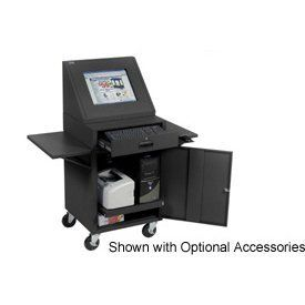 Lcd Mobile Console Computer Cabinet   Black By Global Industrial. $339.00.  LCD MOBILE CONSOLE