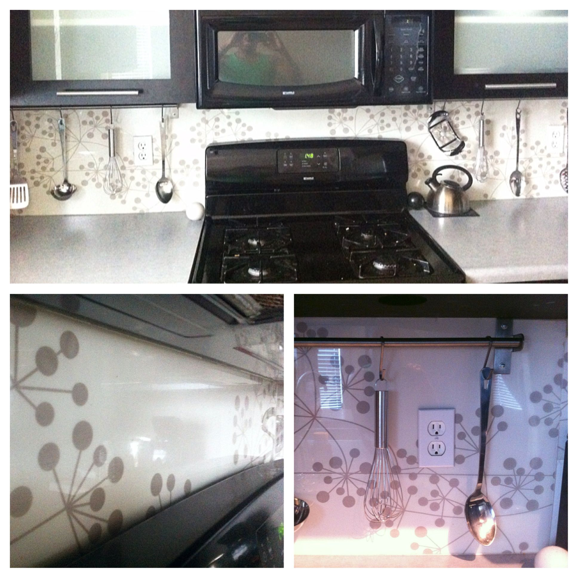 Clear Plexiglass Backsplash Backed With Nylon Textile Designed By My Wife Laci