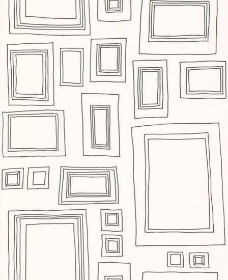 Frames Wallpaper in Black-White - contemporary - wallpaper - by Design Public