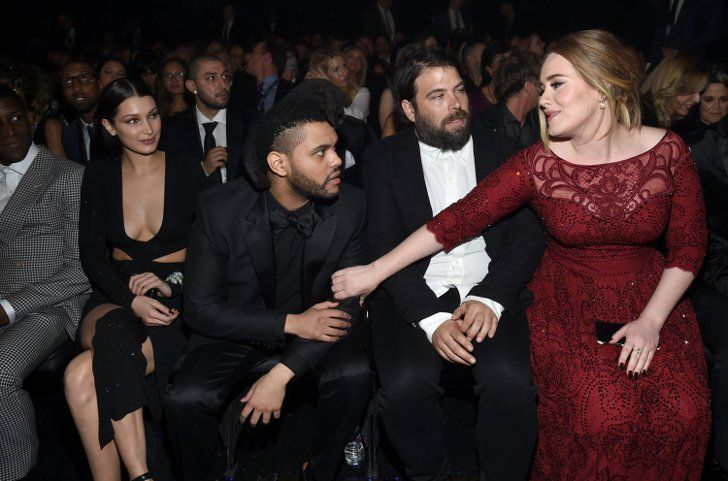 Pin for Later: Celebrity Couples Show Lots of Love at the Grammys Adele and Simon Konecki