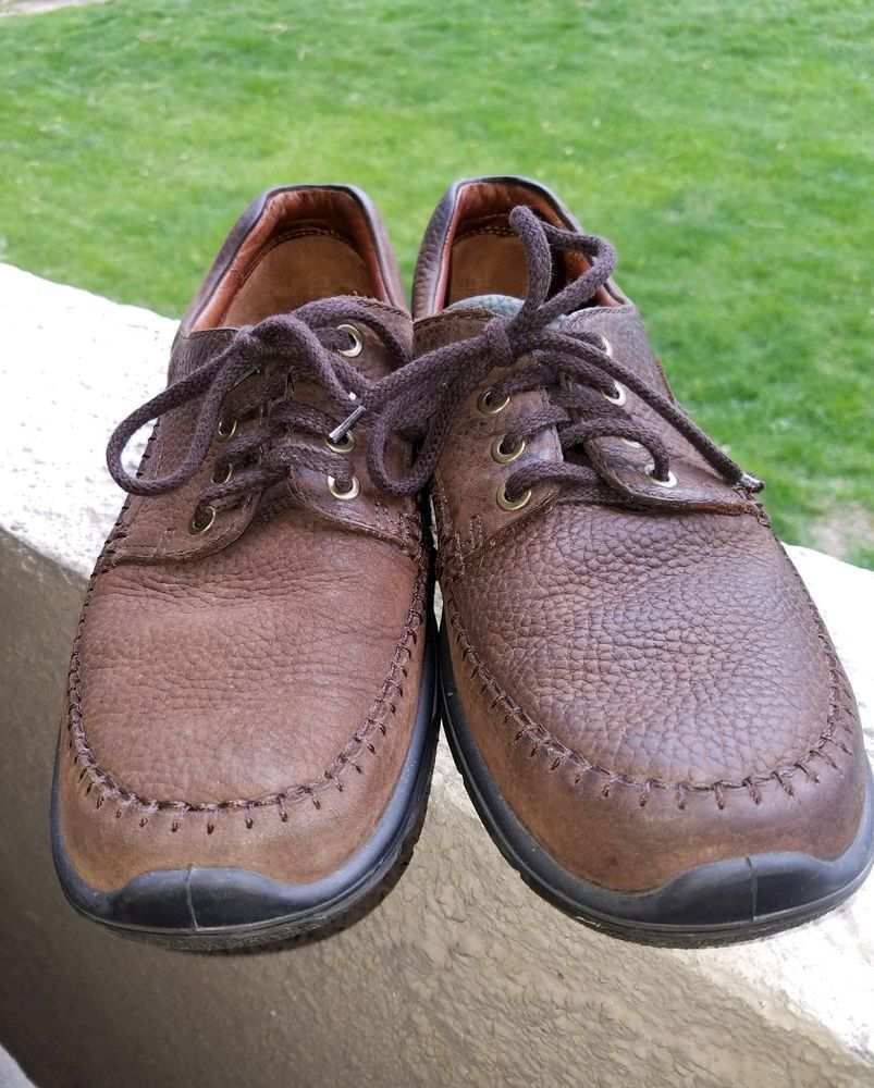 Ecco Men's US 10.5 EU 44 Brown Lace Up Casual Shoes Shock Point Soles #ECCO