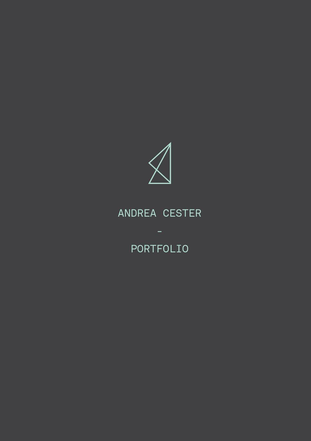 Andrea Cester portfolio   arch inspo    Architecture