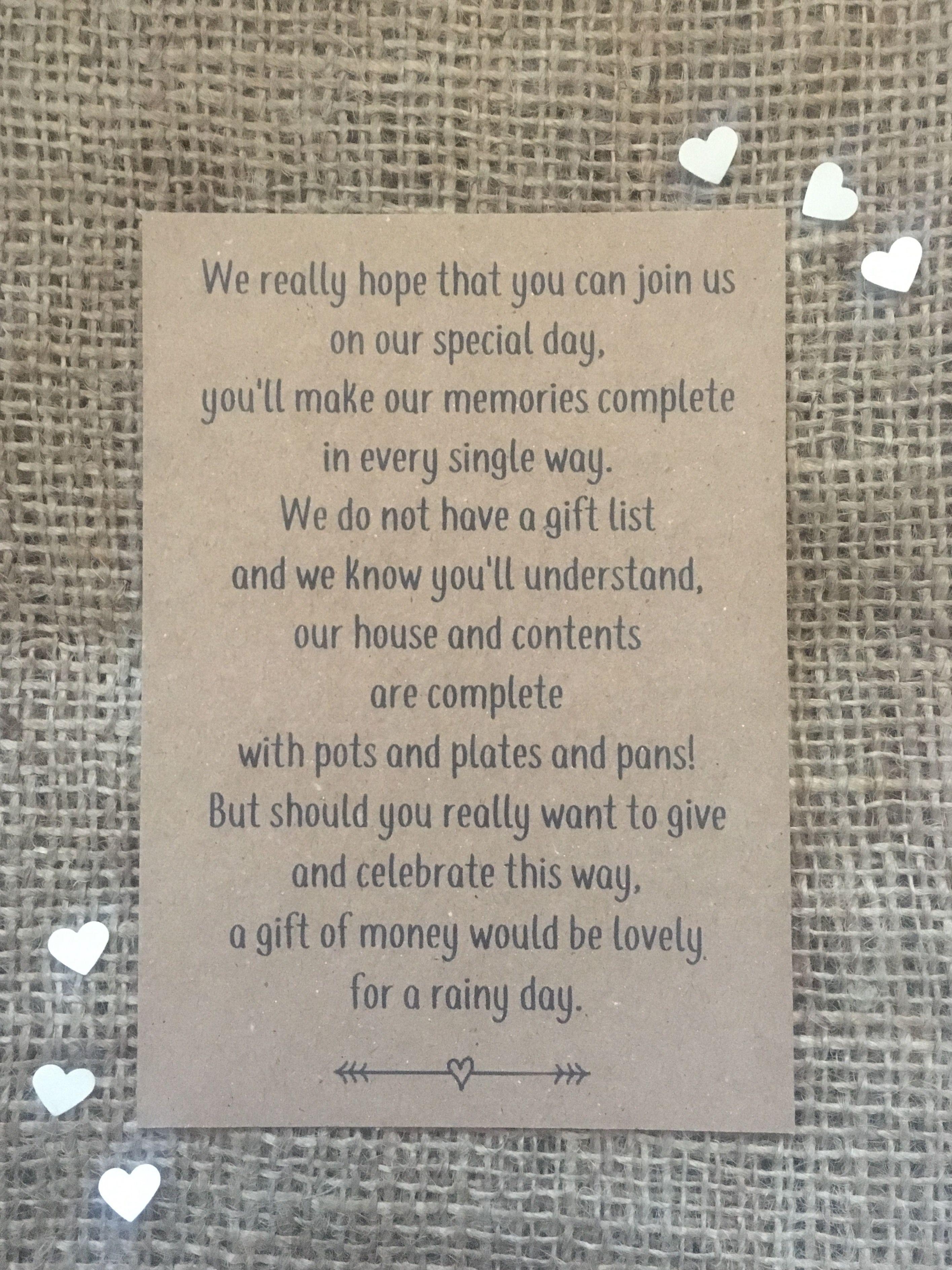 Wedding Etiquette Gifts Cash Or Check Invitationsjdi