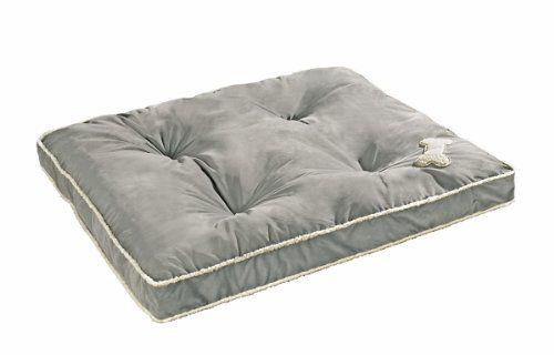 Aus der Kategorie Betten  gibt es, zum Preis von EUR 29,99  Maße: 80 x 100 cm. 100 % Polyester, Umrandung aus Lammfellimitat, Füllung aus Polyester, bei 30 °C waschbar, Farbe: grau