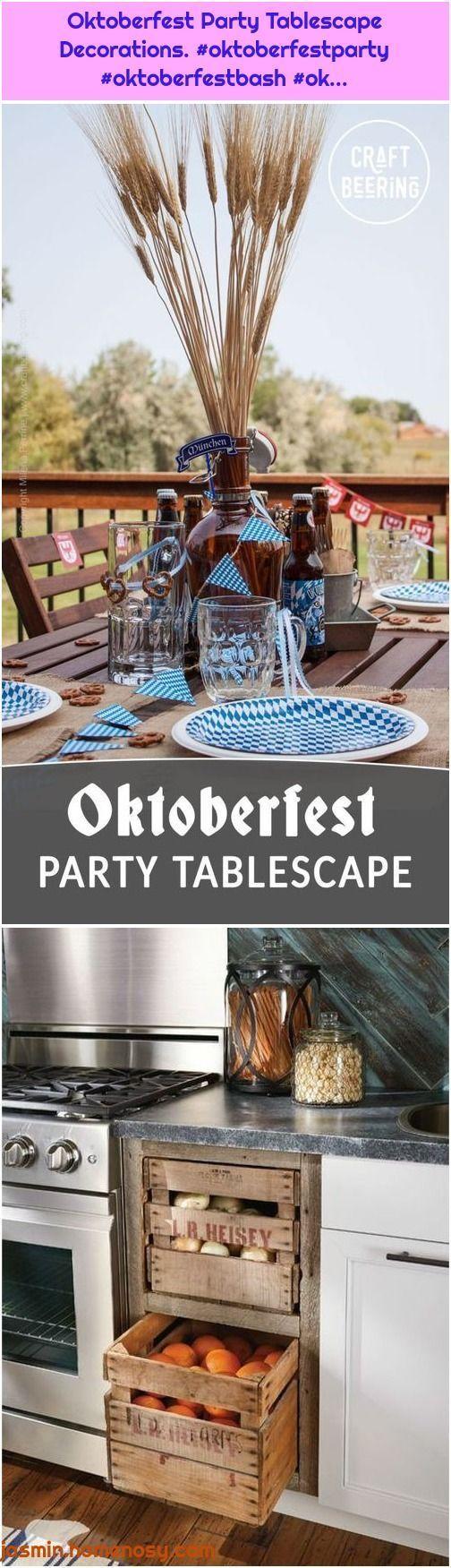 Oktoberfest Party Tablescape Dekorationen O Oktoberfest Party O