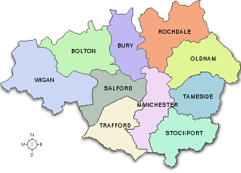 Map Of England Manchester.Map Of Greater Manchester Guide To Manchester In 2019 Rochdale