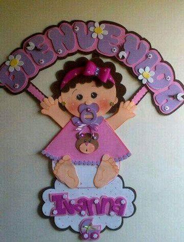 1ba0ec230fa nombres de bebes en foami para colgar Nombres De Niñas