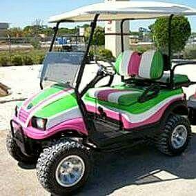 Road Travel | Golf carts, Golf, Pink and green