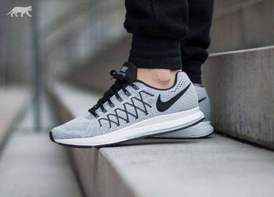 Nike Air Zoom Pegasus 32 (Pure Platinum / Black - Dark Grey)