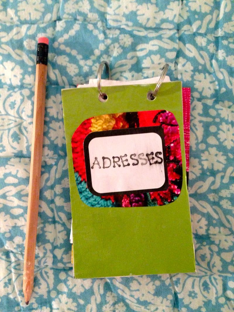 make your own address book little notebook super easy and fun