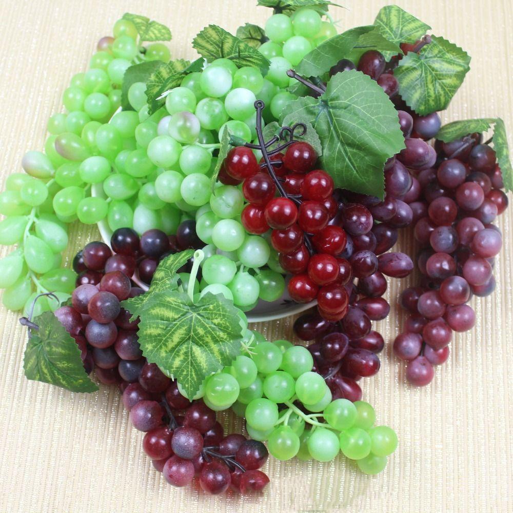 >> Click to Buy << 48 Heads Artificial Fruit Grapes Plastic Fake Decorative Fruit Lifelike Home Wedding Party Garden Decor Simulation Fruit #Affiliate