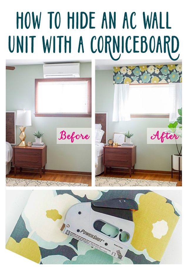 How To Hide An Ac Wall Unit With A Cornice Board Ehow Wall Ac Unit Wall Unit Window Ac Cover