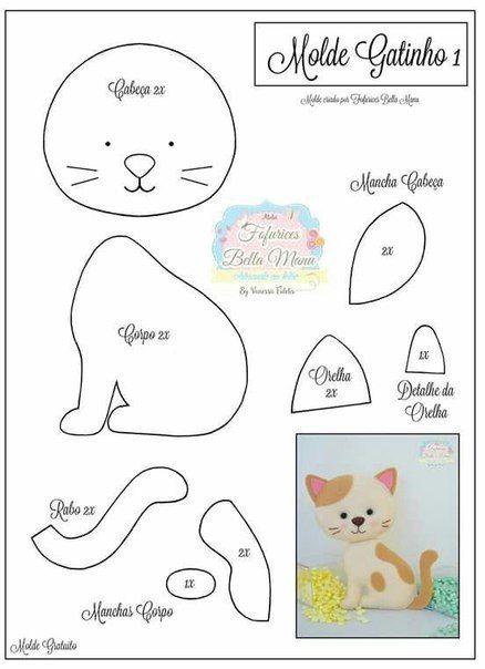 Шаблоны котиков из фетра, добрым