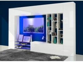 Meuble Tv Mural Design Lumineux Petra Meuble Tv Mural Design Meuble Tv Mural Parement Mural