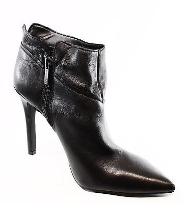 Jessica Simpson NEW Black Women's Size 8.5 Ankle Leather Boots $139- #586 DEAL