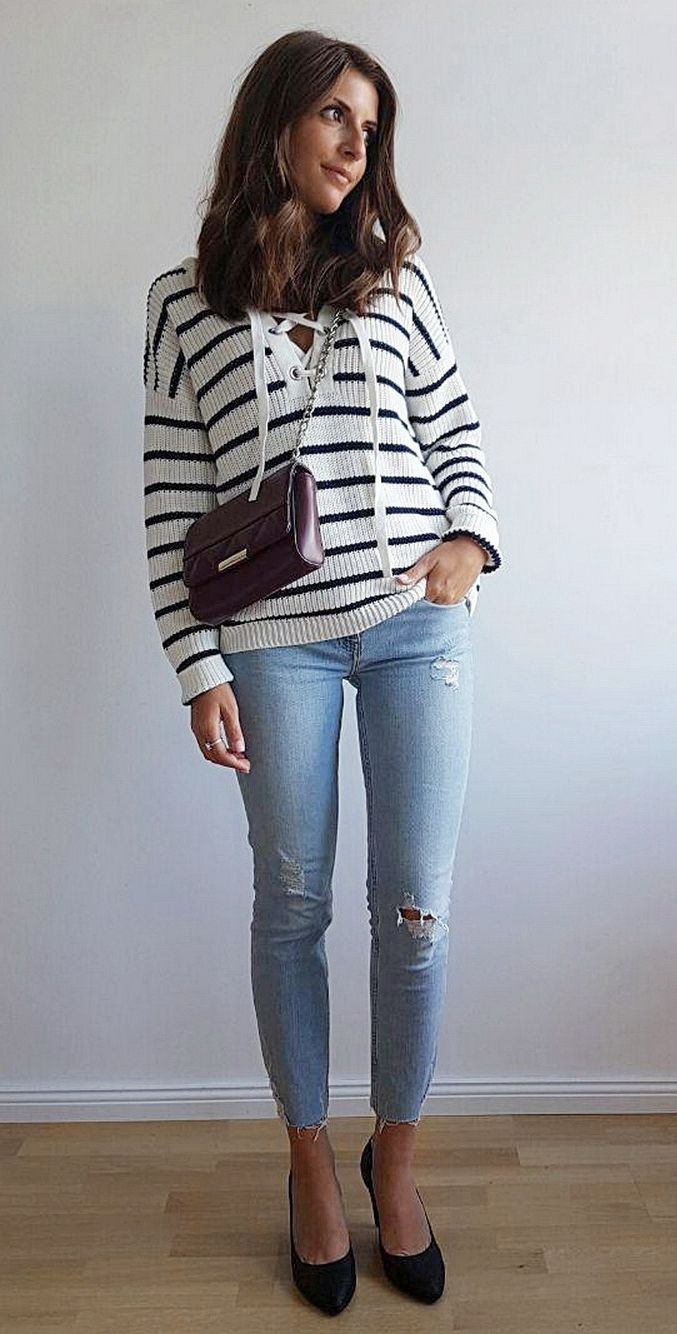 f7d98ec7a3a7 Trendy+Outfit+Ideas+for+Women. 40 Trendy Outfit Ideas to Look More Stylish  in 2018 - Her Style Code ...
