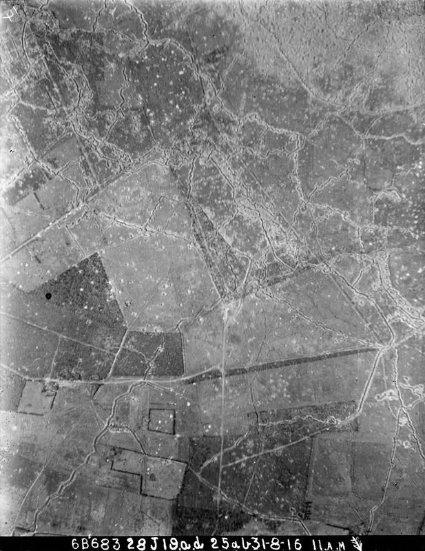 WW1, 31 August 1916, Aerial Photograph of the Western Front, 36B N.E. L 23…