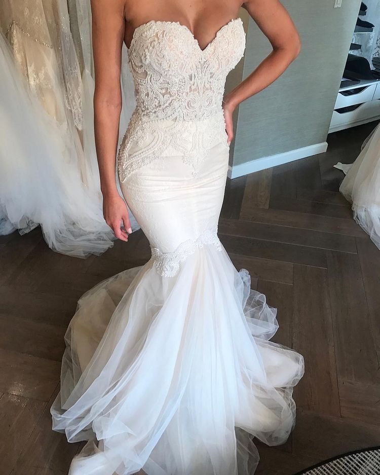 Mermaid Style Wedding Dress.Mermaid Wedding Dresses 2019 Unique Wedding Dresses 2019 Lace