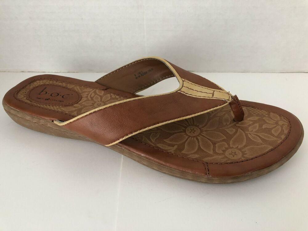 9df6bca5a635 BOC Sandals Womens Size 9 M Brown Flip Flops 9M Born Shoes  Brn  FlipFlops   Casual