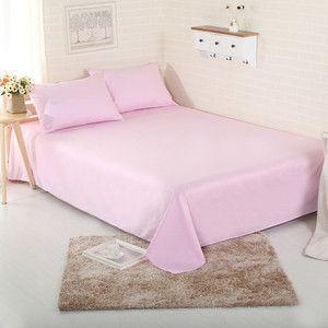 3pcs Sheet set 100% Cotton bedding bedsheet+pillowcases 3pc sheets set solid color