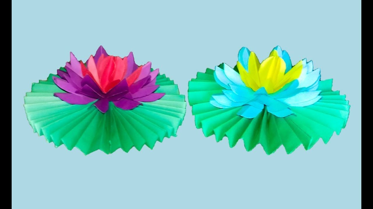 How to make a water lily out of tissue paper origami water lily pad how to make a water lily out of tissue paper origami water lily pad izmirmasajfo Gallery