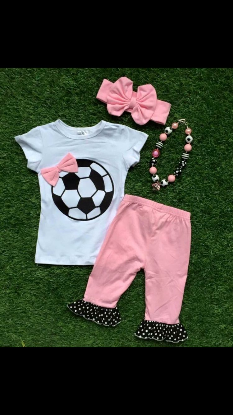 3bbcd39df Little girl soccer outfit. Little girl soccer outfit Football Girls ...