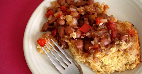 Cajun Cornbread Casserole Grapiest Chicken Flatbread Pizza Ever - http://cookingwithtricia.ca - Healthy International Recipe site