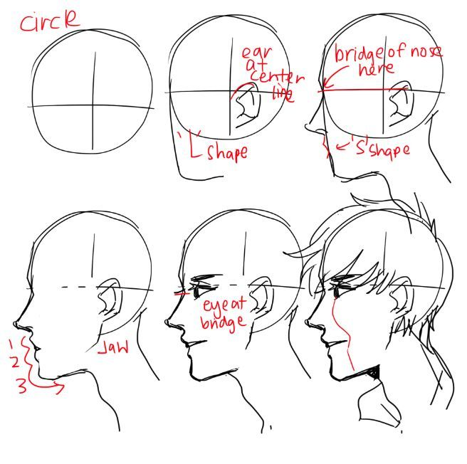 A Bunch Of People Asked Babout Heads And Head Anflges So Yeah I Jsut Dumped It All On One I M Not Relaly Suere W Guy Drawing Drawing Tutorial Drawing Reference