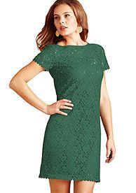 Donna Morgan Short Sleeve Lace Dress