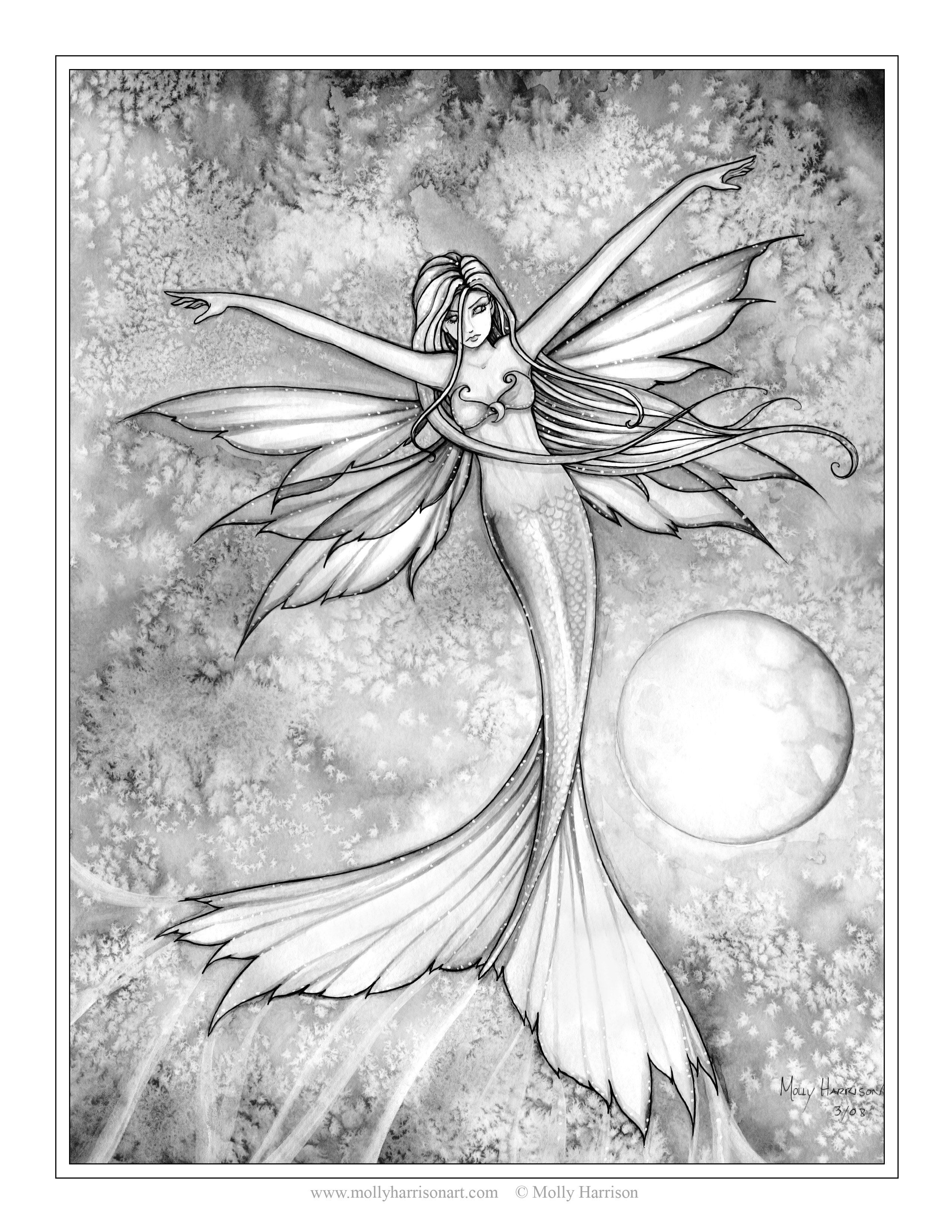 Picture Fairy Coloring Pages Mermaid Coloring Book Fairy Coloring [ 3300 x 2550 Pixel ]
