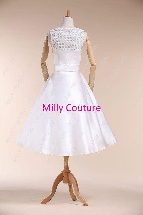 Vintage short wedding dress 1950s wedding by millycouture on etsy vintage short wedding dress 1950s wedding by millycouture on etsy sciox Choice Image