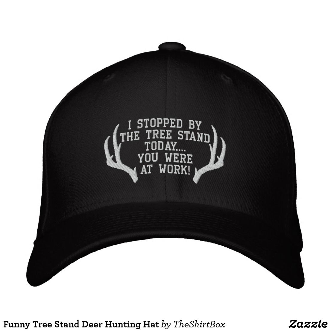 7e0c6cfd Funny Tree Stand Deer Hunting Hat | Zazzle.com | Men's hats | Deer ...