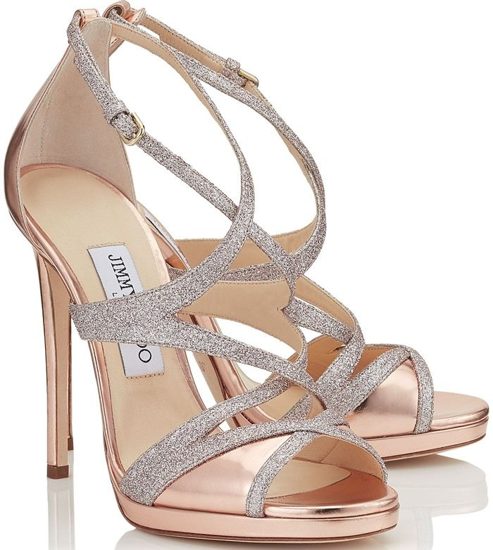 great quality new high temperament shoes Jimmy Choo 'Marianne' Tea Rose Mirror Leather and Fine ...