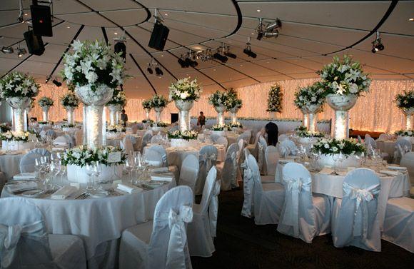 Big Fabulous Wedding Auckland Museum With Huge Fairy Light Backdrop