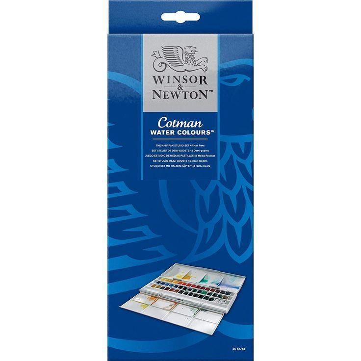 Winsor Newton Cotman Half Pan Water Colour Studio Set Amazon De