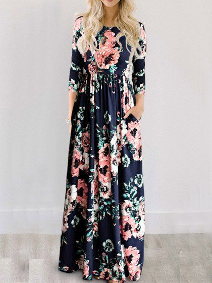 5ebb3e8de Chicnico Ecstatic Harmony White Floral Print Maxi Dress