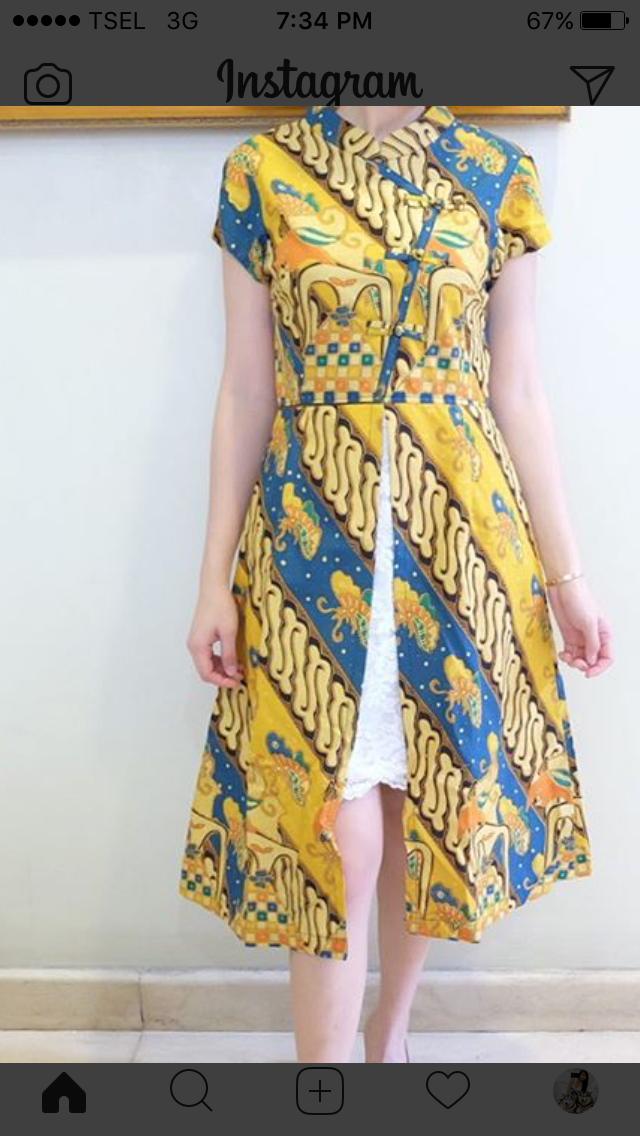 Batik modern Batik Pinterest Modern Kebaya and