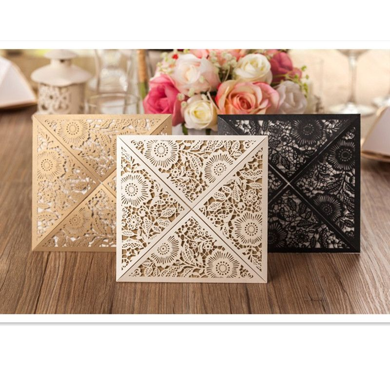 Cheap invitation card red, Buy Quality invitation borders directly ...