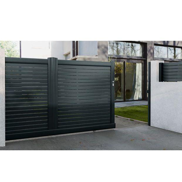 Portail Coulissant Aluminium Sicile Idees Pour Le Jardin Portail Portillon Portail Coulissant Et Portail