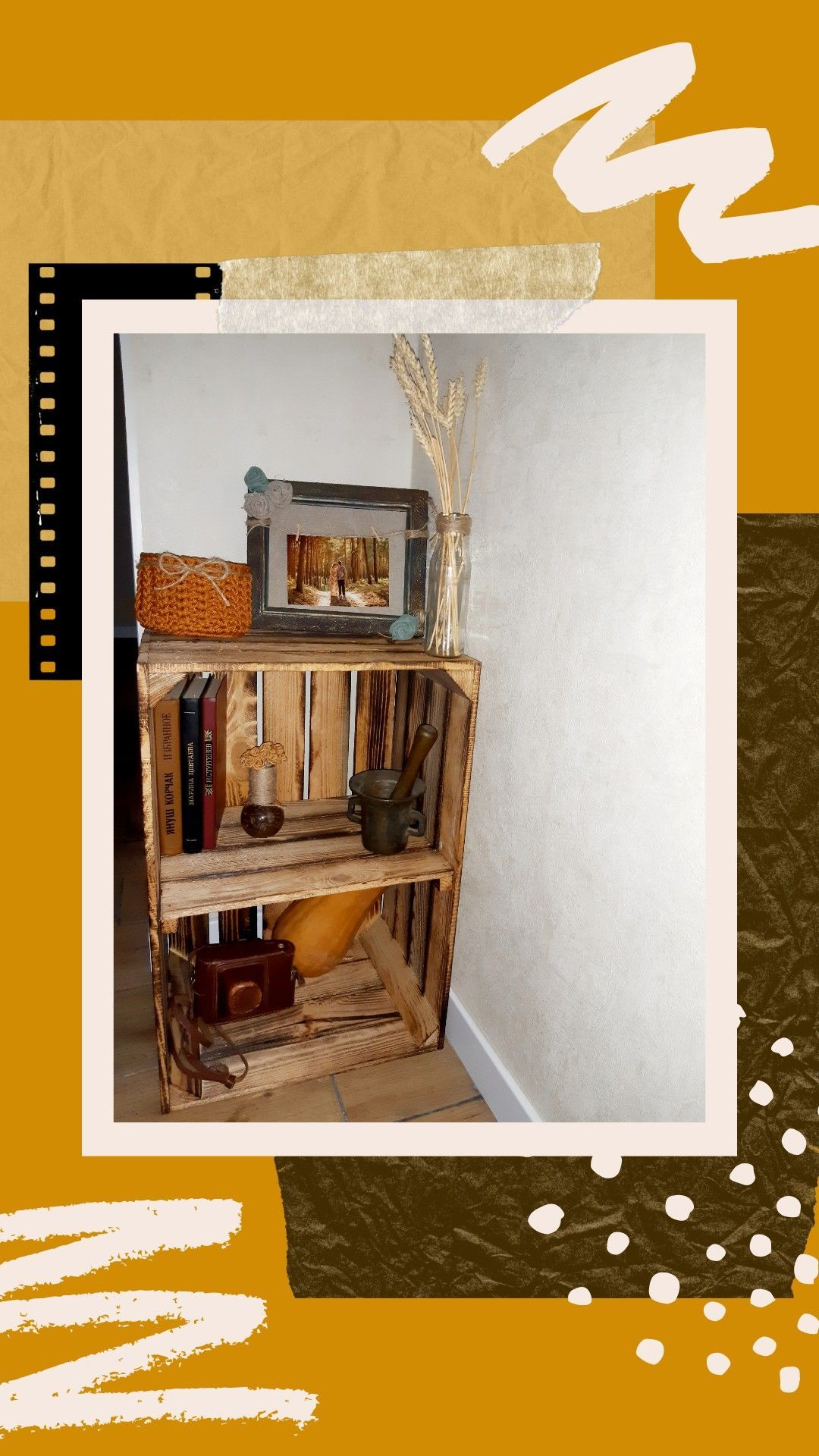 Mustard Crochet Basket Rustic home decor #crochetbowl Mustard crochet basket i…