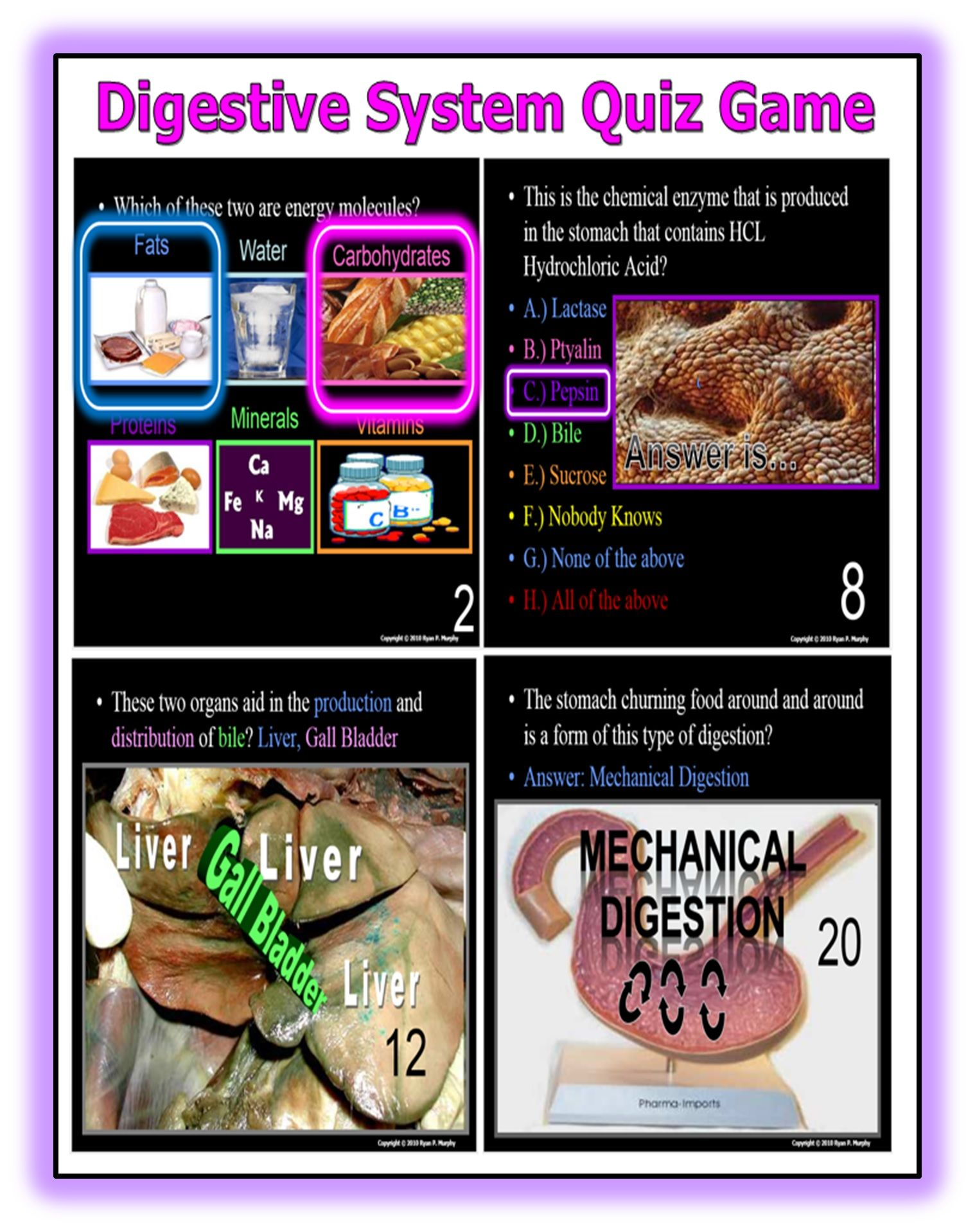 Digestion, Digestive System PowerPoint Review Game, Quiz ...