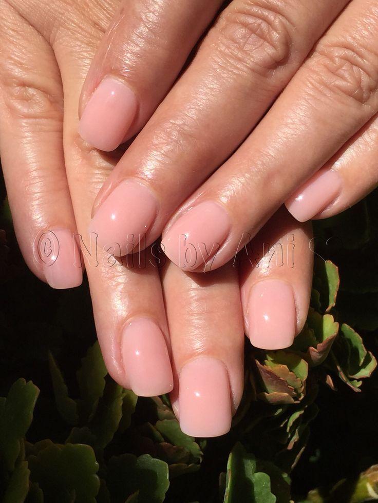 All acrylic pink overlay over natural nails | Natural nails, Overlay ...