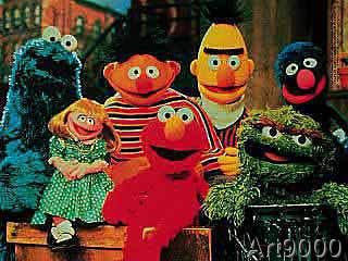 Sesamstraße - Ernie,Bert,Krümel(Foto)