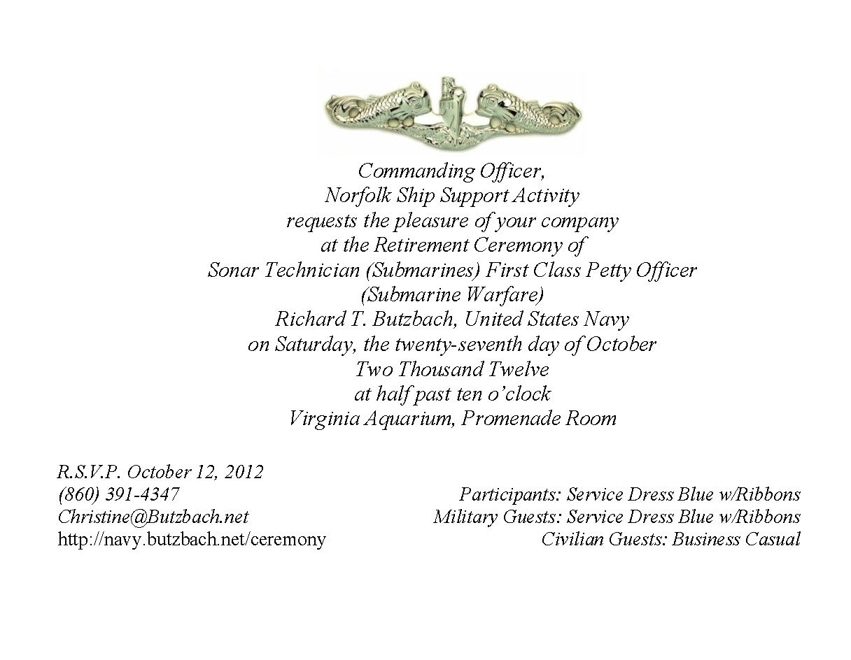 Military Retirement Ceremony Invitations Party Invitations Ideas