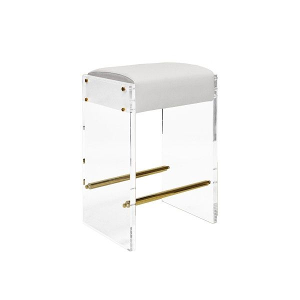 Brilliant Worlds Away Indy Acrylic Panel Counter Stool Chair With Gmtry Best Dining Table And Chair Ideas Images Gmtryco