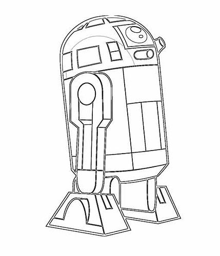 R2d2 Coloring Page With Images Star Coloring Pages Star Wars