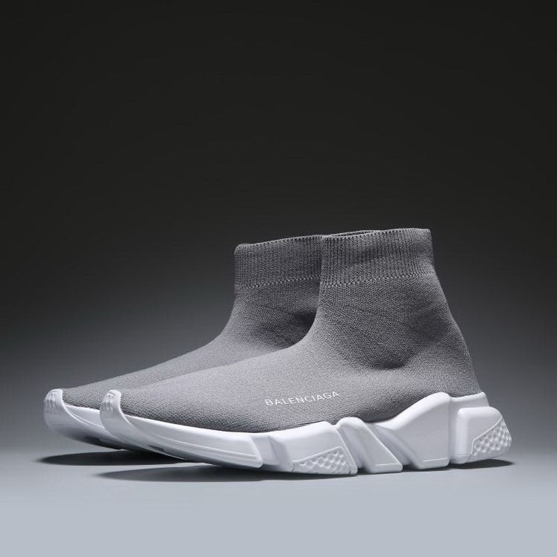 7f1bce968410 Balenciaga Speed Trainers Grey White - Cheap Balenciaga Shoes Sale Free  Shipping