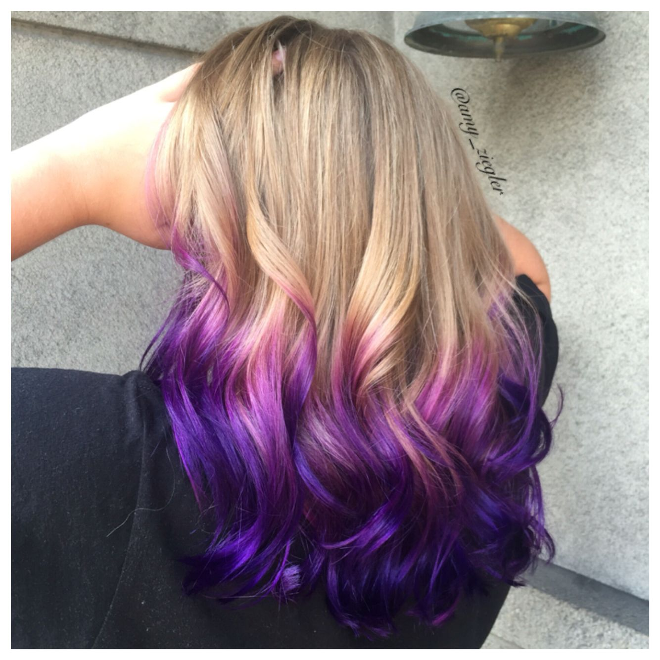 Purple Ombre Melt On Blonde Hair By Amy Ziegler Askforamy Joico