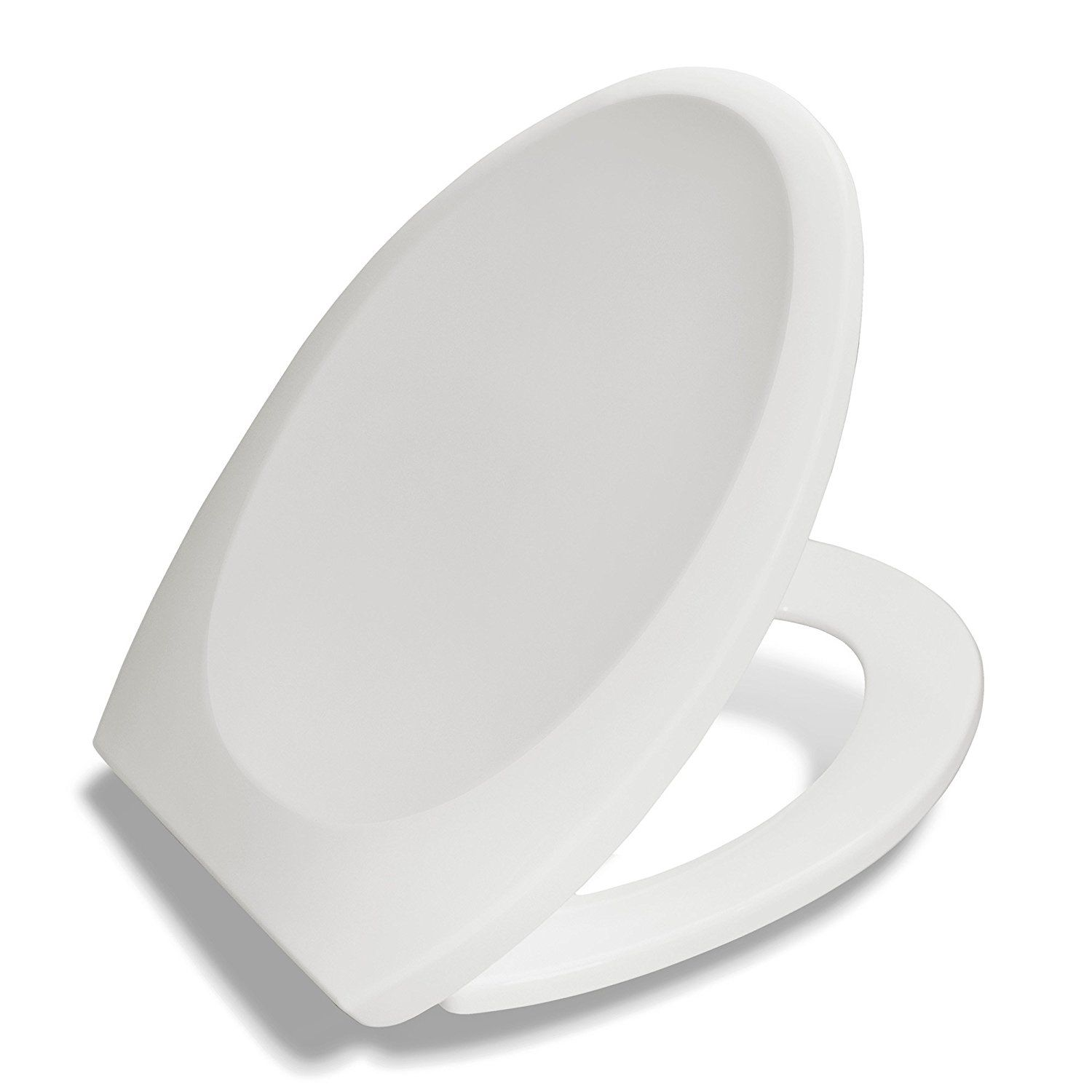 Bath Royale Premium Elongated Toilet Seat With Cover White Slow